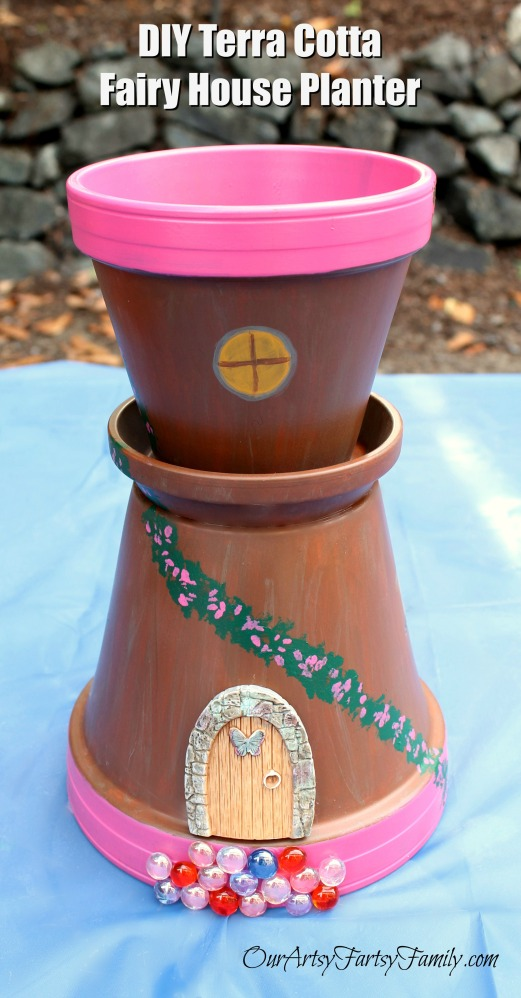 DIY Terra Cotta Fairy House Planter