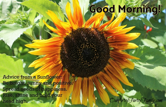 2020 - Good Morning Sunflower Quote